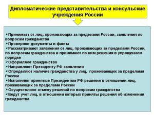 дипломатическом представительстве или консульском учреждении РФ