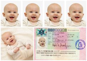 Общие требования к детским фото для визы
