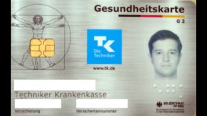 Карточка медицинского страхования (Versichertenkarte или Mitgliedsbescheinigung) для работы в Германии