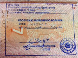 оформления ВНЖ в Черногории