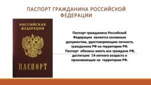 паспорт гражданина РФ в 14 лет