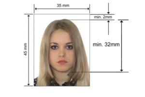 Размер фотографии на визу