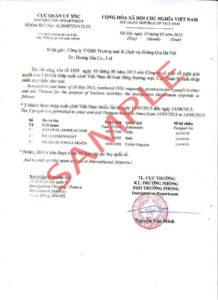 Визовое разрешение (approval letter)