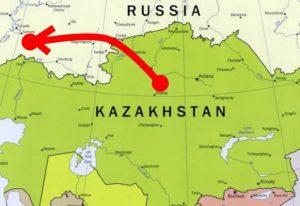 из Казахстана в Россию
