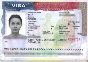 студенческую визу в США